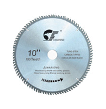 Alloys saw blade for aluminum and plastic
